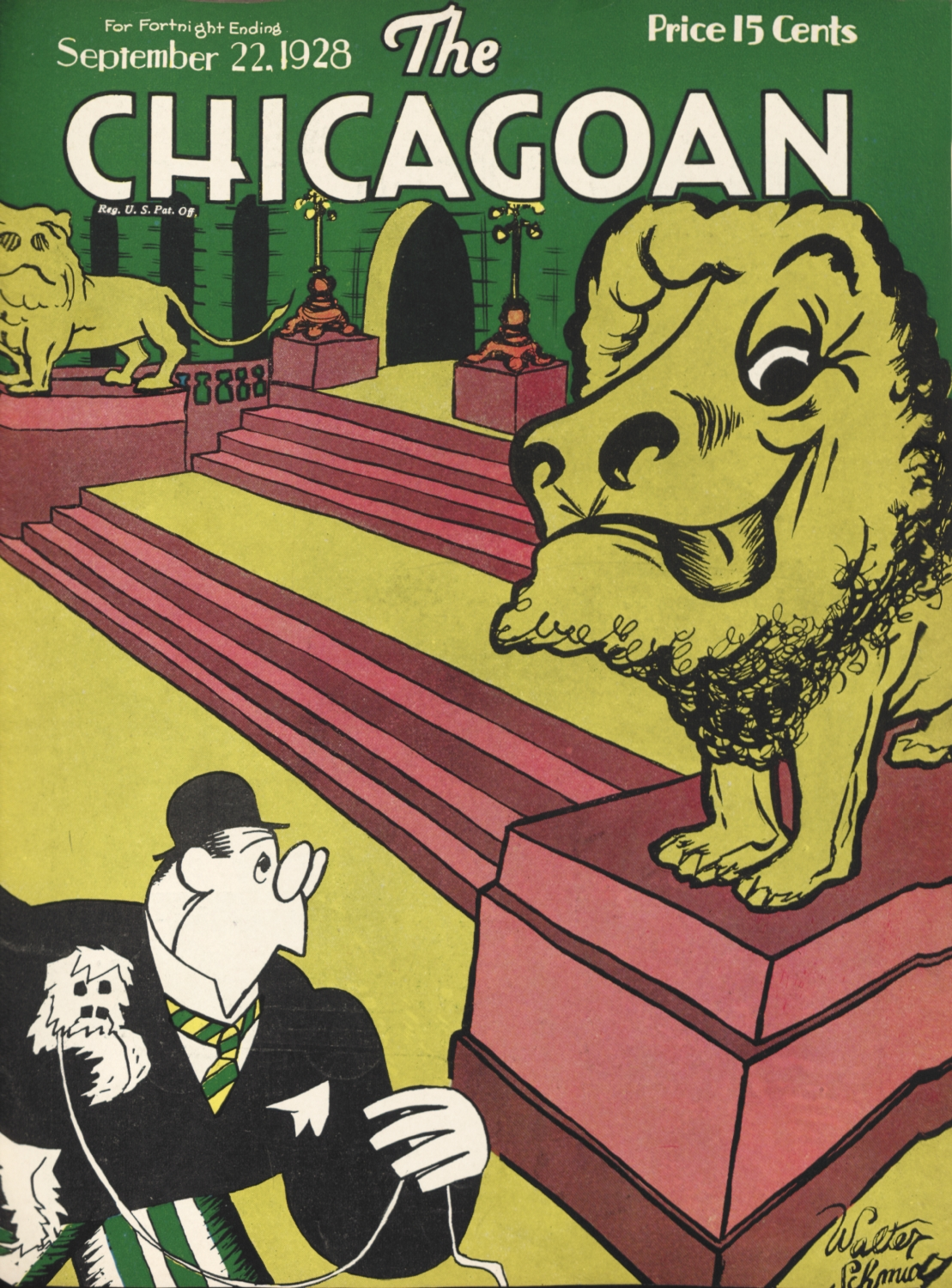 cover of 1928 issue of The Chicagoan Magazine